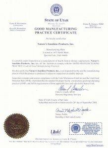 Сертификат GMP NSP
